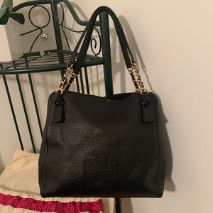 NEW Tory Burch Black Leather Bag